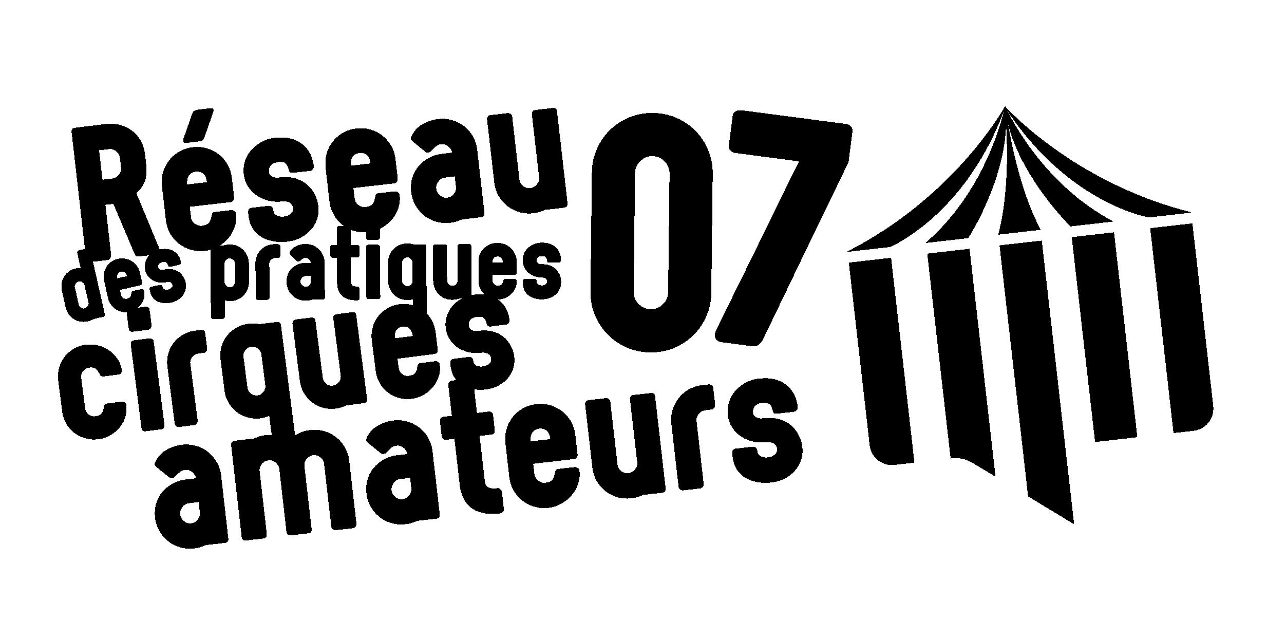 Logo Réseau départemental des pratiques cirque amateur 07